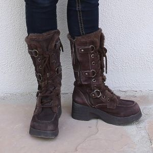 Genuine Leather Platform Boots